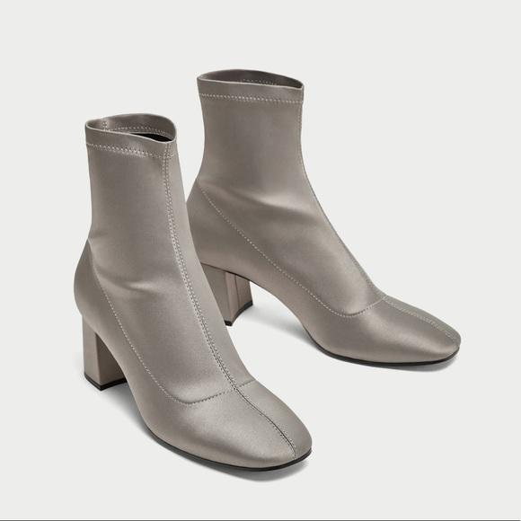 8402b76976c Zara Shoes   Nwt Silver Light Grey Ankle Boots   Poshmark